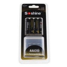 4 PCS Soshine 3.7 V 10440 Li-ion batterie 350 mAh AAA Rechargeable Batterie pour lampes de Poche LED Projecteurs