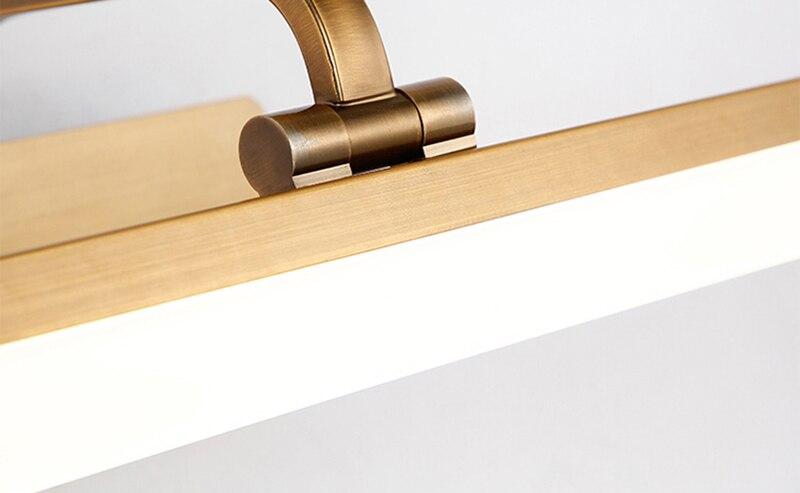 Retro Led Wandlamp Lamp Goud Spiegel Wandkandelaars Badkamer Led Spiegel Licht Waterdichte LED Wandlampen Slaapkamer Art Home verlichting - 6