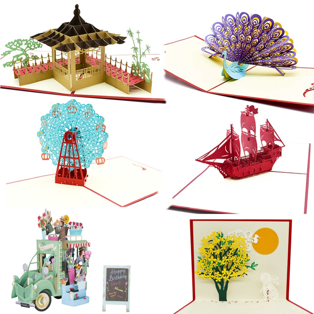 3D Pop Up Cards For Baby Shower Birthday Card For Kids
