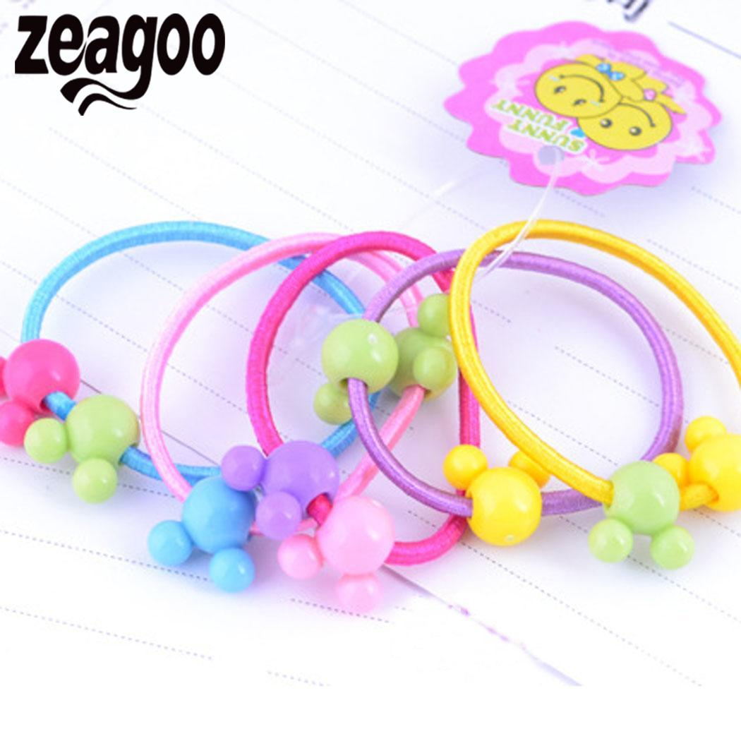 1 Pair New Cute Kids Girl Elastic Tiny Hair Tie Band Rope Ring Ponytail Holder