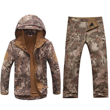 TAD Tactical Men Sharkskin Softshell Jacket Or Pants Military Hunting Suits Hiking Camping Camouflage Waterproof Clothes outdoor camouflage hunting clothes sharkskin tad military tactical jacket army clothing windproof camping hiking sports jackets