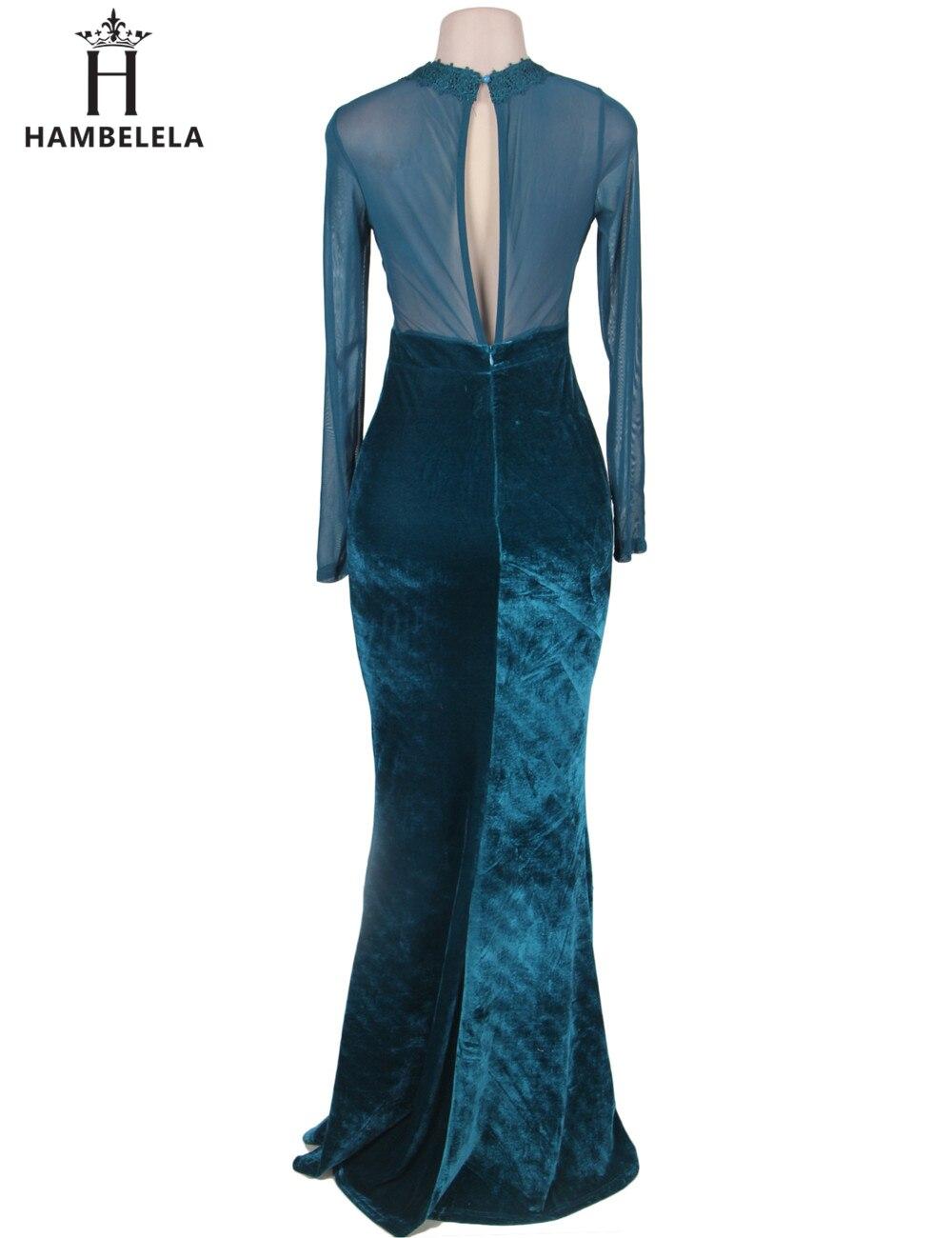 0313e3af52568b Hambele winter maxi dress 2017 vrouwen sexy lace dress o hals lange mouw  elegante avondfeest lange dress gown robe longue Femme in Hambele winter  maxi dress ...