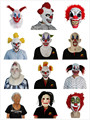 X-MERRY Scary Latex Clown Mask Costumes for Halloween Horror Party Decoration