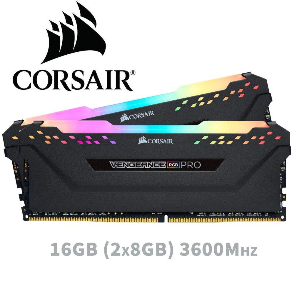 CORSAIR 16 ГБ 2X8 ГБ двухканальный DDR4 RGB PRO 3600 мГц DIMM памяти настольного Поддержка материнской ddr4 3000 3200 мГц