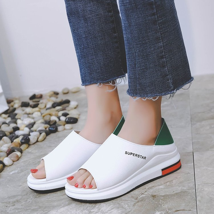 Plus Size Summer Casual Flat Women Sandals Sport Fashion Mixed Colors Slip On PU Leather Non Plus Size Summer Casual Flat Women Sandals Sport Fashion Mixed Colors Slip-On PU Leather Non-slip Platform Beach Women Shoes