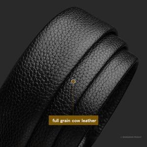 Image 3 - BISON DENIM Genuine Leather Male Belt Luxury Metal Automatic Buckle Strap Belts for Men Cowskin High Quality Fashion belt N71396