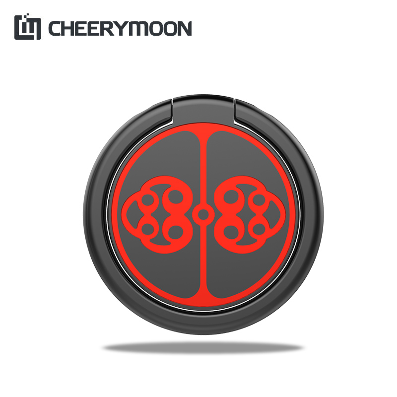 CHEERYMOON Plate Buckle Ring Holder 360 Degree Metal Finger Grip For Universal Mobile Phone Stand Magnetic Car Bracket