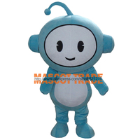 Lovely Blue Genius Baby Mascot Costume for Halloween party event