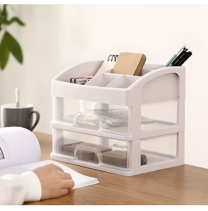 Plastic Cosmetic Storage Box to Organize Makeup with Drawers for Dressing Table of Women 10