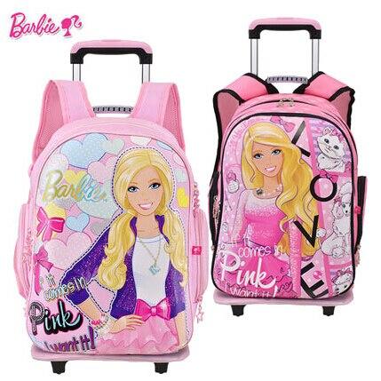 a663da6e5d848 Oryginalne randoseru Barbie torby szkolne dla dziewcząt dzieci wózek  bookbags szkoły i Plecak dla dzieci i