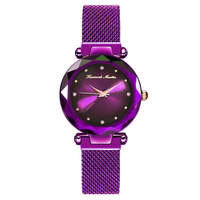 Japan Quartz Watch Women's Watches Lady Luxury Brand Online Shopping Purple Rose Gold Clock Adjustable Magnet Clasp Wristwatch G