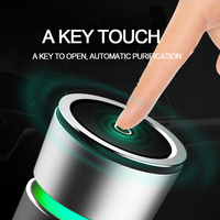 Car Air Freshener Ionizer Purifier USB LED Light Finger Touch Open RGB Colorful Perfume Fragrances For