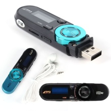 USB 16GB TF supported USB Flash MP3 Player With FM Radio Earphone Lot Colors