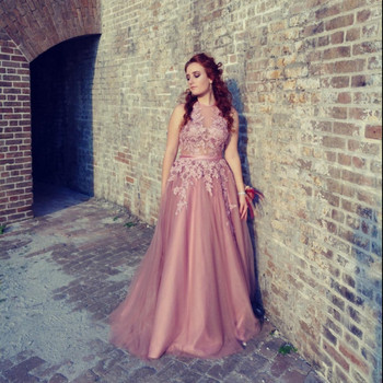 2019 New Sexy Prom Dresses Appliques Women's Party Gown Backless Evening Dresses Halter Banquet Elegent A-line Robe De Soiree