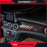 CLA GLA Carbon Fiber ABS Wnętrza Deski Rozdzielczej Wykończenia Dla Mercedes Klasy W117 X156 Zestawy Pokrywa z 3 M Taśmy ACD łatwy w Instalacji 2014 +