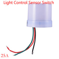 Wholesale China Adjustable Light Control Sensor Switch Outdoor Light Switch Photo Control Sensor 220v 25A For