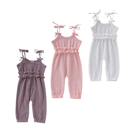 Newborn Baby Girl Ruffled Floral Romper Backcross Jumpsuit Outfits Sunsuits Baby Clothing