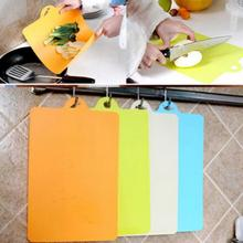 Flexible PP Plastic Non-slip Hang hole Cutting Board Food Slice Cut Chopping Block Kitchen Cooking Tools