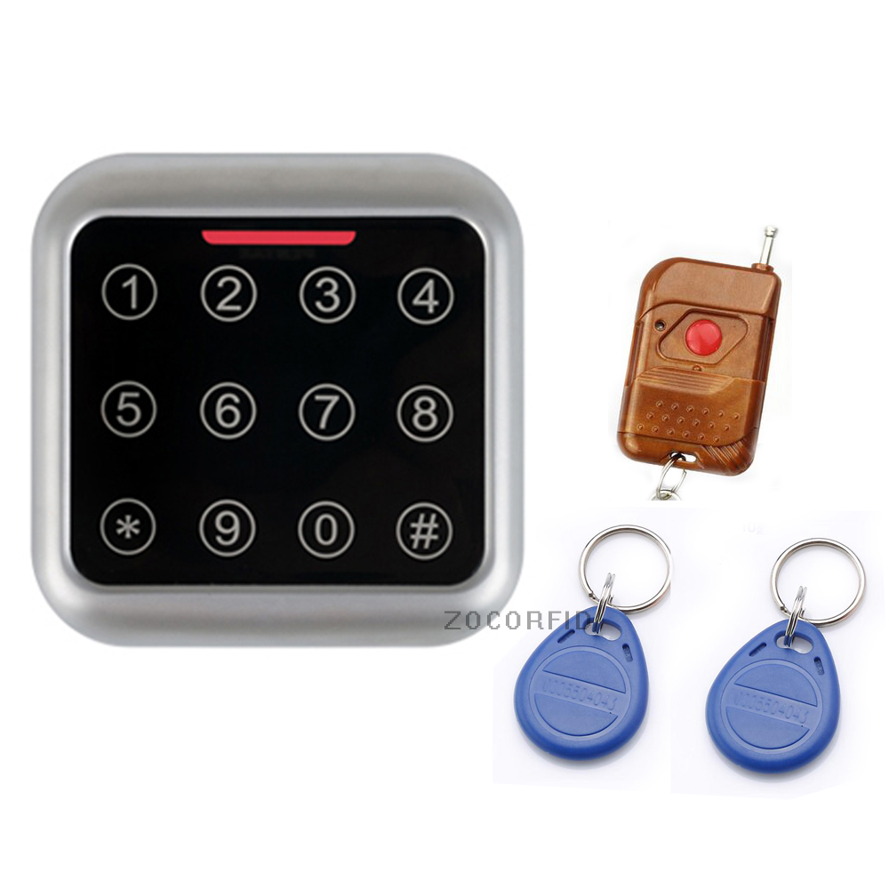 FC392 touch keypad Metal Case Keypad For 125KHZ EM RFID Proximity Card Standalone Access Control& remote control Out&In door free shipping touch keypad access control rfid card and touch keypad access control