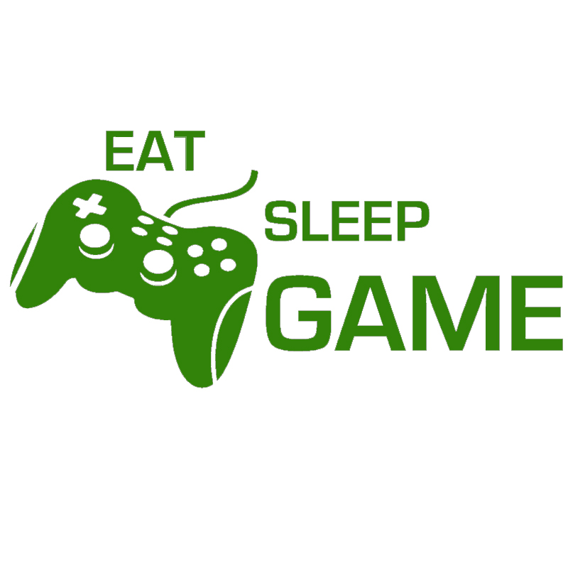 Casual Happy Life Eat Sleep Game Gamepad Graphic Funny JDM Car Sticker for Bumper SUV Door Kayak Car Decor Vinyl Decal 9 Colors