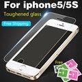 Vidrio de protección en el para iPhone4 4S 5 5S SE 6 6 S 7 7 Plus HD Templado Protector de Pantalla de Cristal Templado superior Protector película