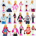 10 Sets Outfit Unique Different Style Handmade Doll Dress Clothing Suit Skirt Coat Pants Shoes Accessories For Kurhn Barbie Doll