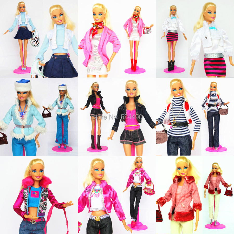 10 Units Outfit Distinctive Totally different Fashion Handmade Doll Gown Clothes Go well with Skirt Coat Pants Footwear Equipment For Kurhn Barbie Doll