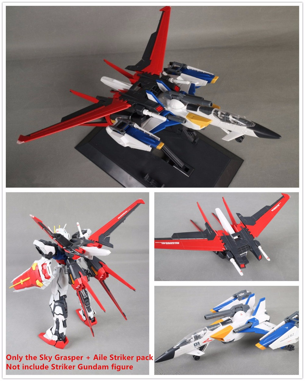 Daban PG FX-550 Sky Grasper + Aile Striker pack for Bandai 1/60 GAT-X105 Striker GundamDaban PG FX-550 Sky Grasper + Aile Striker pack for Bandai 1/60 GAT-X105 Striker Gundam