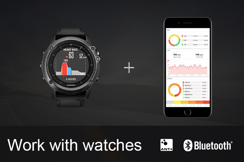 6 Bluetooth & Ant+ Heart Rate Monitor Cycling BLE 4.0 ANT Pulse Meter Polar Garmin Wahoo Strava Heart Rate Sensor Chest Strap Belt