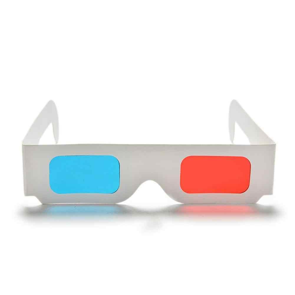 BEESCLOVER للفيلم الفيديو EF 10 قطعة/الوحدة العالمي ورقة النقش 3D نظارات ورقة 3D نظارات الرؤية النقش الأحمر/الأزرق 3D الزجاج r60