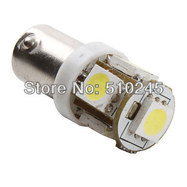 100XFree shipping Car Auto LED BA9S 6523 1895 H6W T4W 5 led smd 5050 Wedge LED Light Bulb Lamp 5SMD White/Green/Blue/Red/Yellow