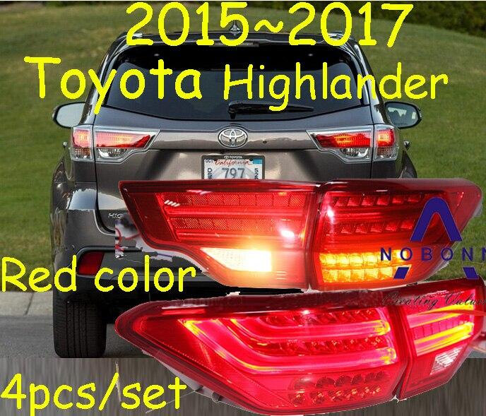 Highlander taillight,2015~2017;Free ship!LED,4pcs/set,highlander rear light;optional:red/black color,highlanderfog light