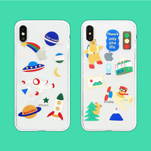 INS Korea super fire simple smiley face phone case For iphone Xs max Xr Xs X 6 6s 7 8 plus cute bear clear soft TPU Cover aertemisi ins korea super fire candy color bear phone case for iphone xs max xr x 6 6s 7 8 plus cute wave point clear soft tpu