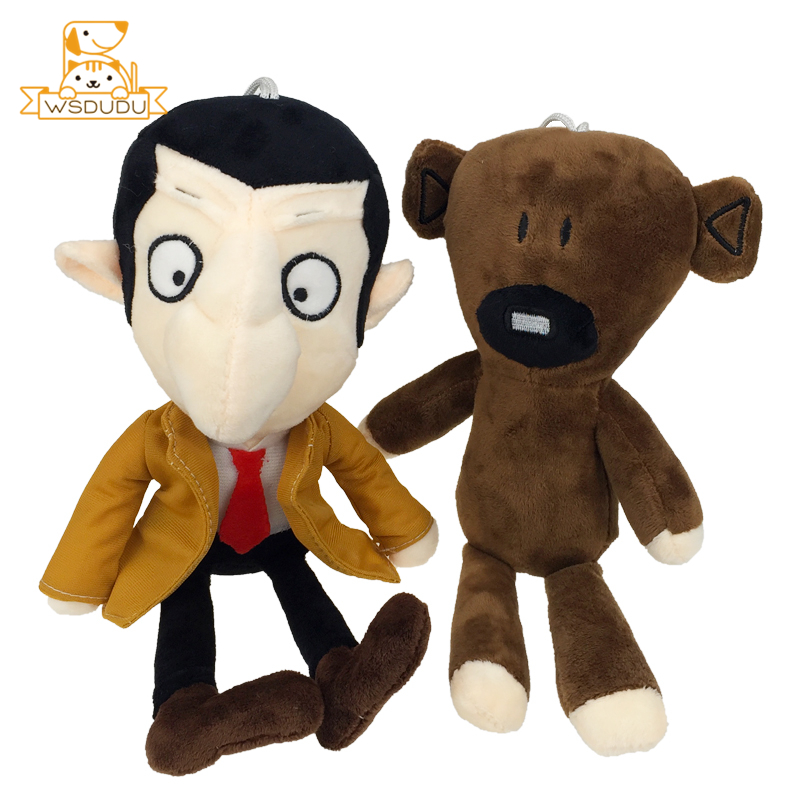 Mr Bean Teddy Bear Comedy Cartoon Stuffed Plush Toys Movie TV Character Brown Animals Figure Funny Cute Dolls Adorable Clothes
