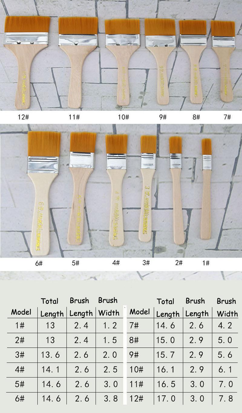 HTB1eb1dhSBYBeNjy0Feq6znmFXa7 - EZONE Nylon Hair Painting Brush Oil Watercolor Water Powder Propylene Acrylic Different Size Paint Brushes School Art Supply