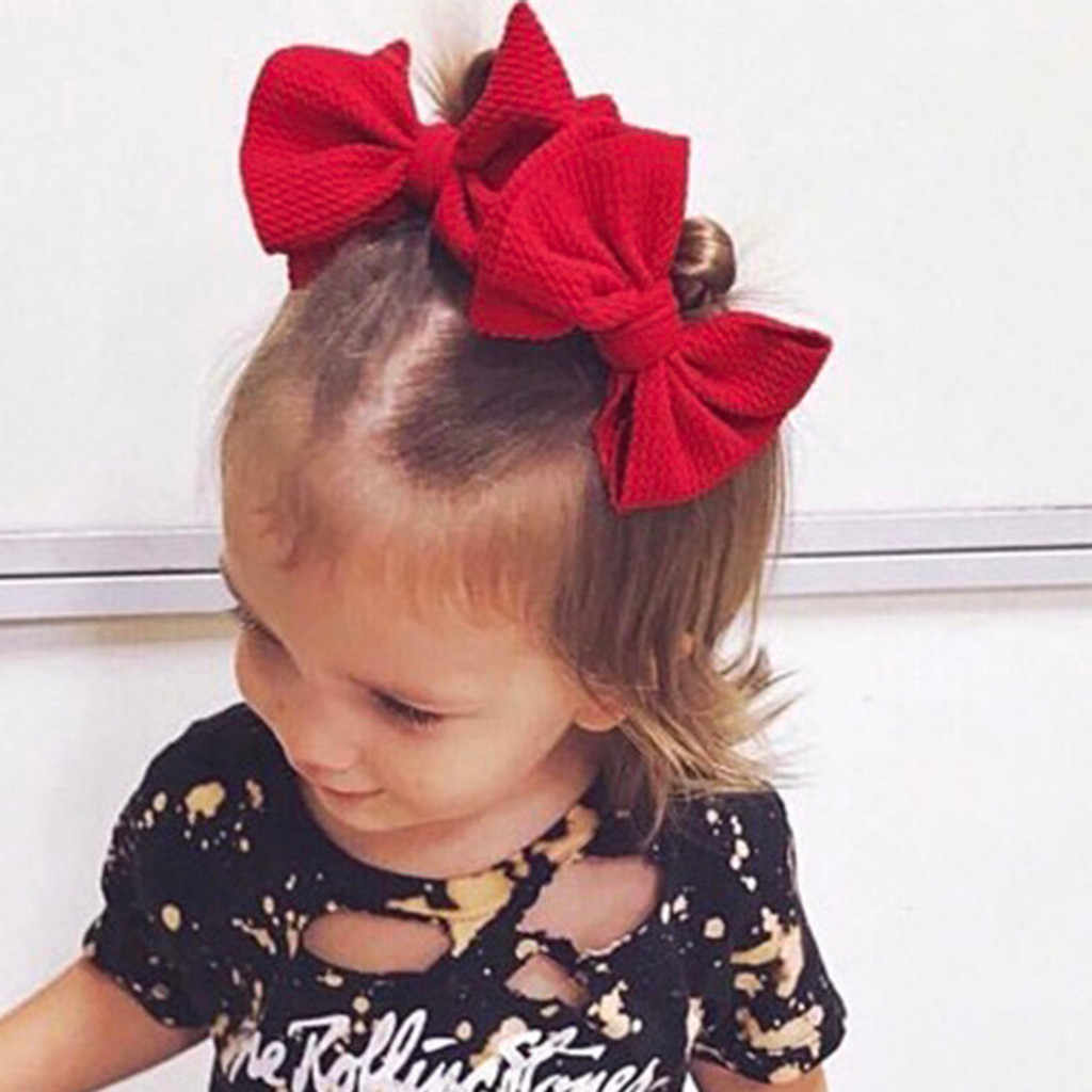 2 ชิ้น/เซ็ตดอกไม้ Bows เด็ก Headband Dot Bowknot Haarband เด็กผู้หญิง Headbands ผ้าฝ้ายเด็กผมวงดนตรีหญิงอุปกรณ์เสริมผม