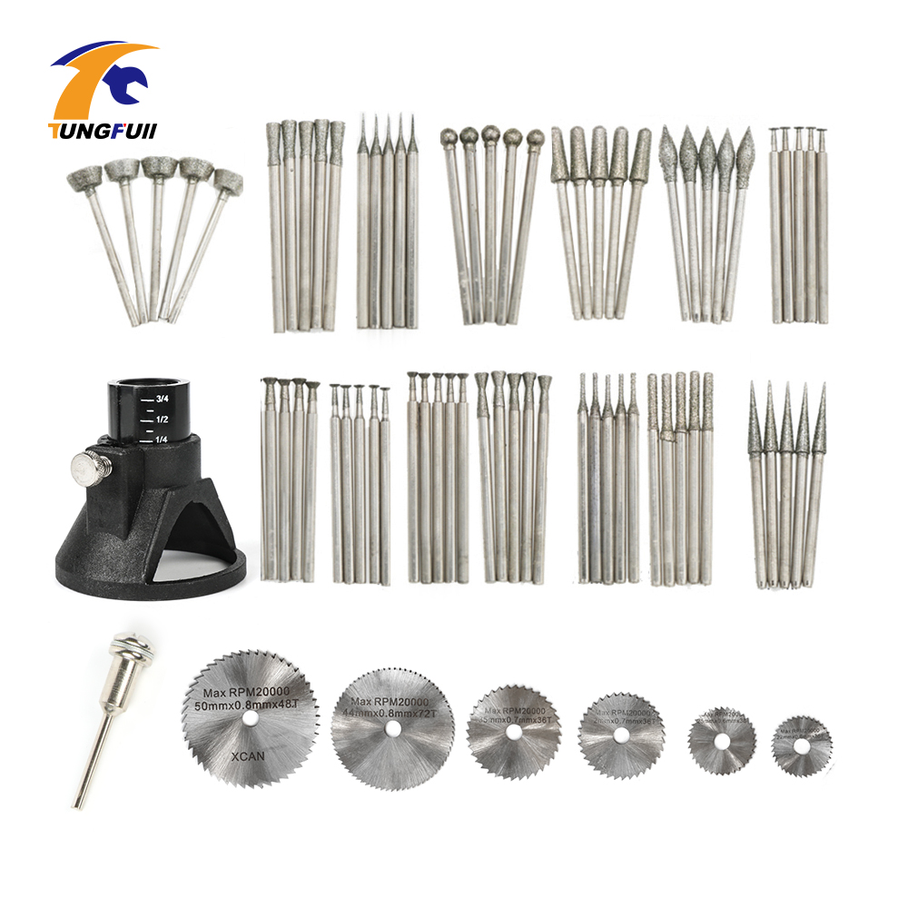 Tungfull Dremel Style Accessories 78pcs Jade Carving Set Saw Blade Horn Protective For Electric Engraver Dremel Rotary Tool tungfull 161pcs dremel style accessories abrasive tools wood metal engraving electric rotary tool accessory for dremel bit set