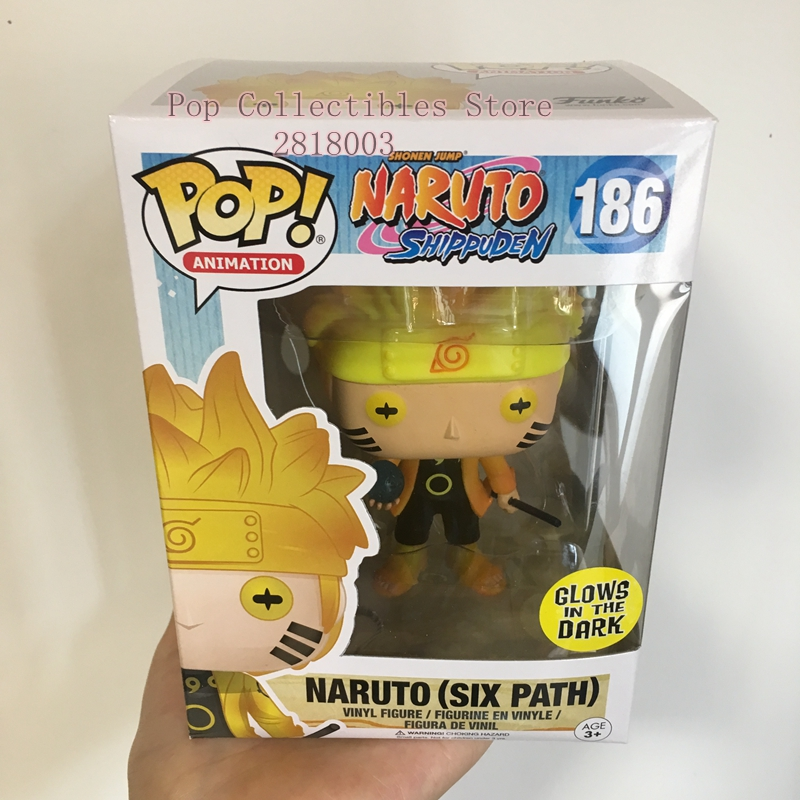 Exclusive Funko pop Official Glow In The Dark Naruto Shippuden - Naruto (Six Path) Vinyl Action Figure Collectible Model Toy  funko pop games illidan 14 pvc action figure collectible model toy 4 10cm kt2242