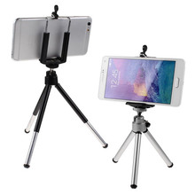 Portable Mini Cell Phone Camera Stand Clip Holder Mount Tripod For iPhone For Samsung For HTC