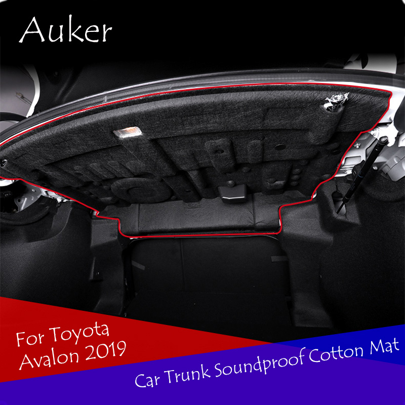 Car Styling Car Trunk Soundproof Cotton Mat Sticker Protection 1Pcs/Set For Toyota Avalon 2019Car Styling Car Trunk Soundproof Cotton Mat Sticker Protection 1Pcs/Set For Toyota Avalon 2019