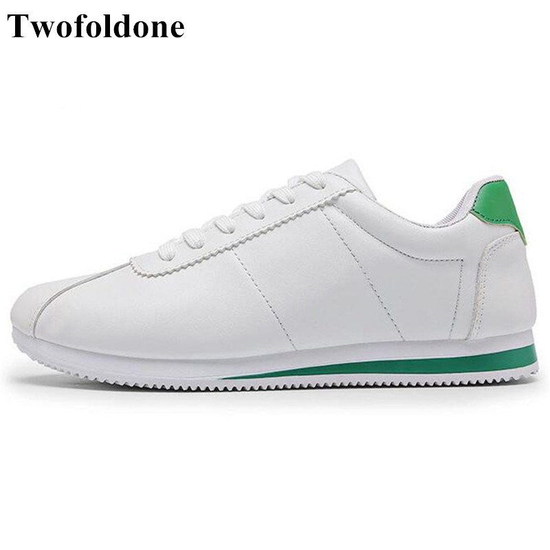 2017 running shoes flat leather sneakers white