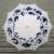 Moda Nupcial Chuvas Parasol do Guarda-chuva Guarda-chuva de Renda Branca de Algodão Azul Impresso Decoração Do Casamento Vitoriano Traje Acessório