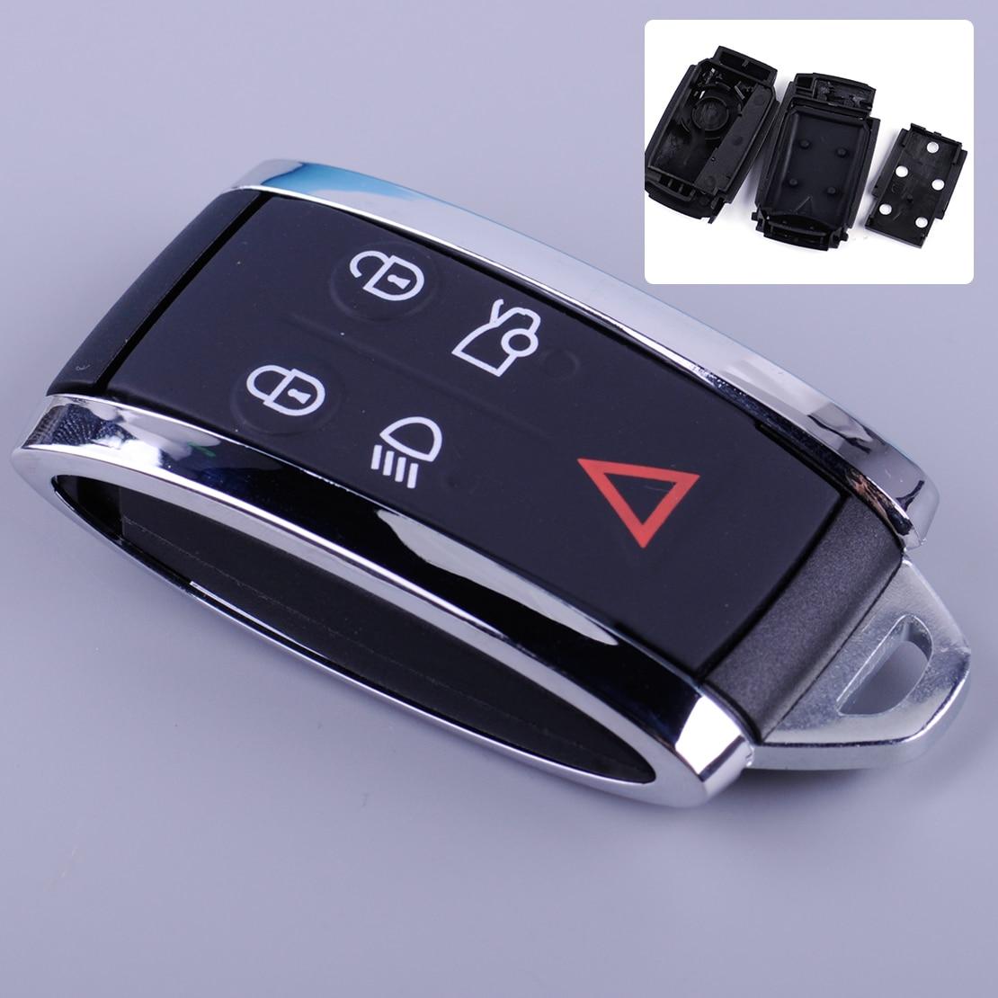 CITALL 5 Taste Remote Smart Key Fob Shell Fall Gehäuse Fit Für Jaguar X-Typ S-Typ XF XK XKR Auto Styling