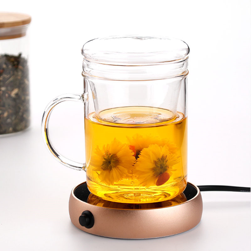 Image 3 - Electric Heating Coasters Water Heater Portable Desktop Coffee Milk Tea Warmer Heater Cup Mug Warming Trays 5 Colors Home Office-in Electric Heaters from Home Appliances