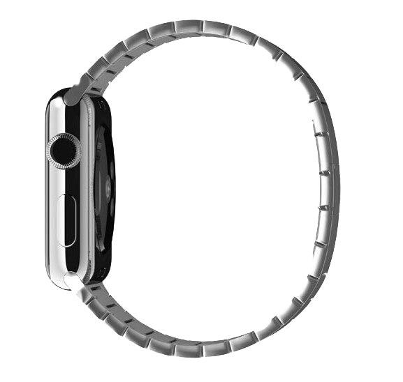 URVOI del braccialetto di collegamento per apple watch band series 4321 di lusso in acciaio cinturino in acciaio per iwatch con fibbia a farfalla 38/40 /42/44mm