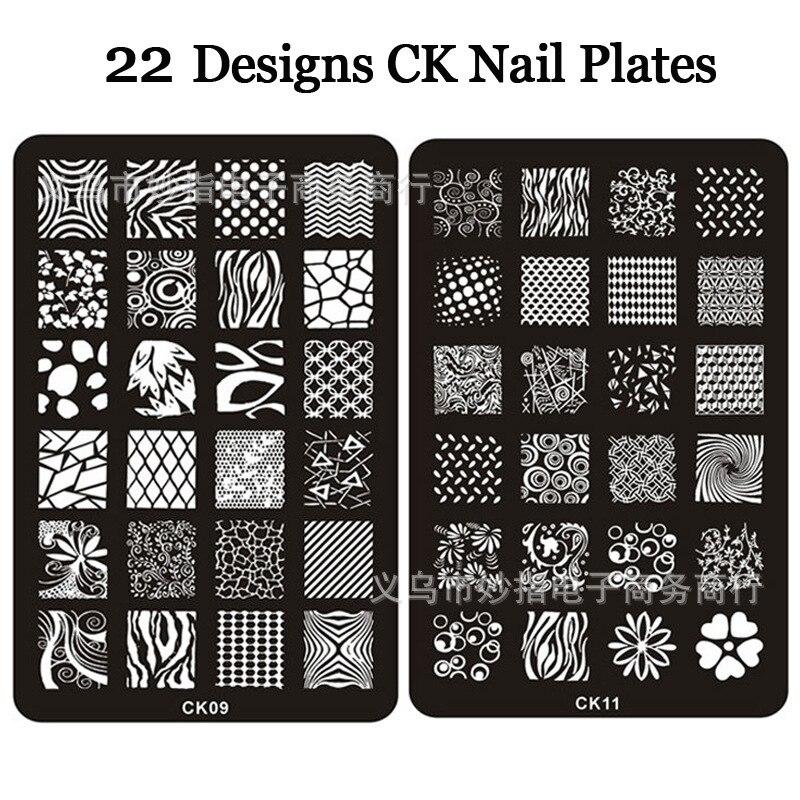 ᗑ1-30 Series DIY nail art plates Nail Polish Print 60 Designs ...