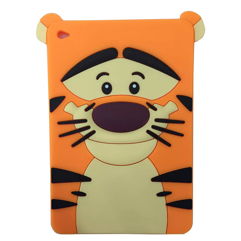 TPU silicone case for ipad mini 4 cartoon all round protective cover 3D cute Soft Rubber tablet coque for ipad mini 4 cover new tpu pvc protective back case cover for ipad mini grey