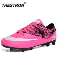 Athletic Shoes Men Free Shipping Indoor Soccer Shoes Cheap Turf Sneakers Football Blue Pink Football Shoes For Football Game