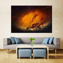 Forbeauty Canvas Painting Wall Art Zen Garden Nebula Spray Printing Waterproof Ink Home Decor(China)