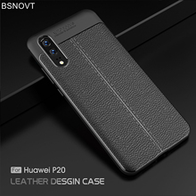For Cover Huawei P20 Case Soft TPU Silicone Luxury Leather Anti-knock 5.8 inch BSNOVT